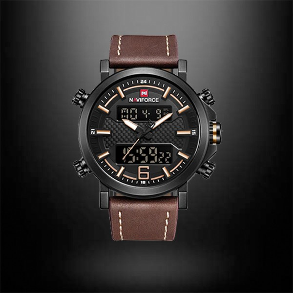 NAVIFORCE Watches Military Army Leather